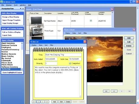 Capture d'écran Database Oasis