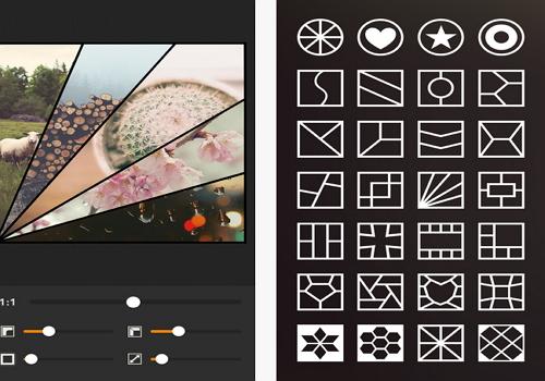 Capture d'écran Moldiv L'éditeur Photo Collage iOS