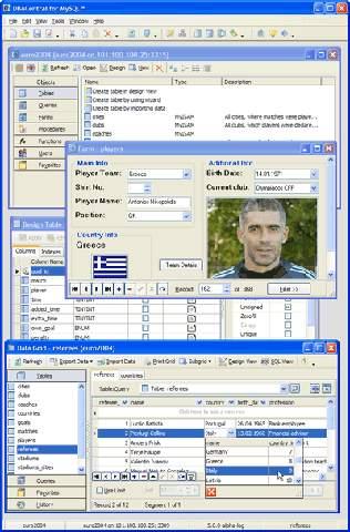 Capture d'écran DBACentral for MySQL