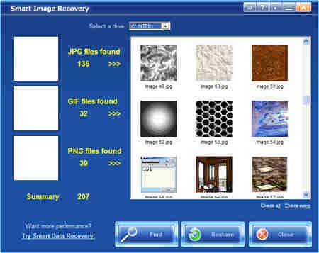 Capture d'écran Smart Image Recovery