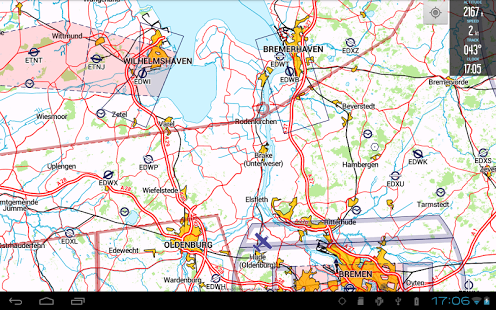 Capture d'écran VFRnav flight navigation