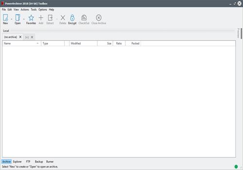 Capture d'écran PowerArchiver