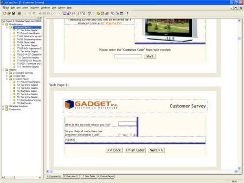 Capture d'écran SurveyPro