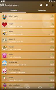 Capture d'écran COMPTE À REBOURS App