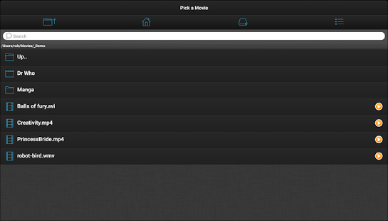 Capture d'écran VLC Streamer