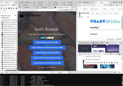 Capture d'écran Sushi Browser