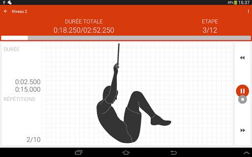 Capture d'écran D'entraînement abdominale PRO