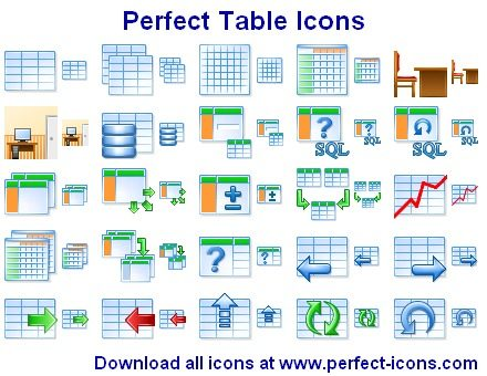 Capture d'écran Perfect Table Icons