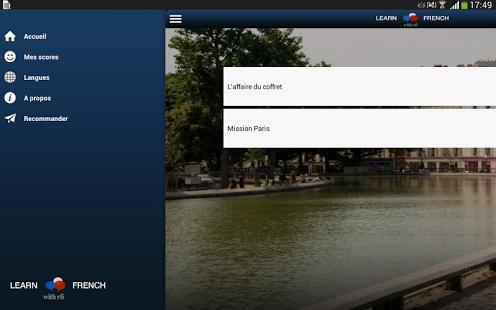 Capture d'écran Apprendre le Français avec RFI
