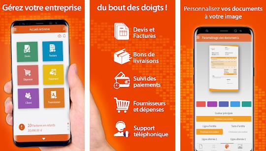 Capture d'écran Artinove – Devis, factures et comptabilité facile Android