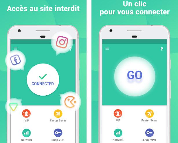 Capture d'écran Snap Master VPN Android