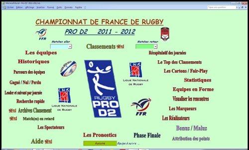 Capture d'écran Pro D2  2011-2012