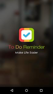 Capture d'écran To Do Reminder