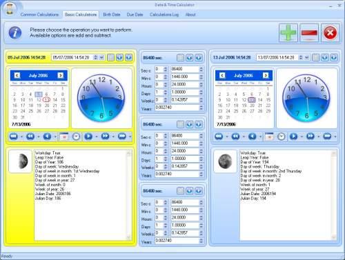 Capture d'écran Date and Time Calculator