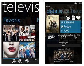 Capture d'écran Televisionary Windows Phone