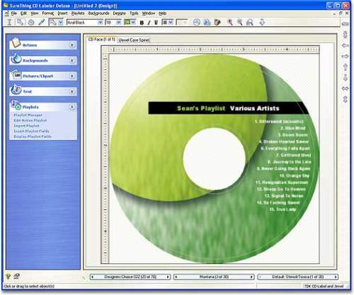 Capture d'écran SureThing CD Labeler