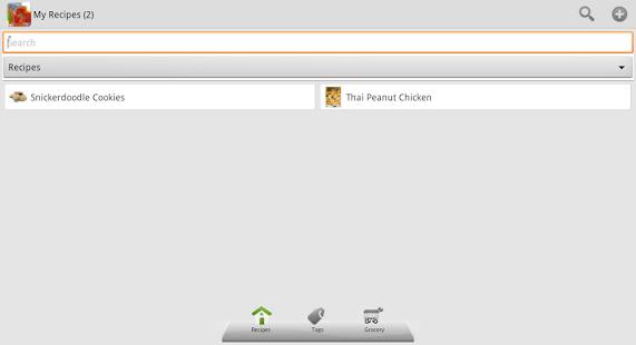 Capture d'écran My Recipes