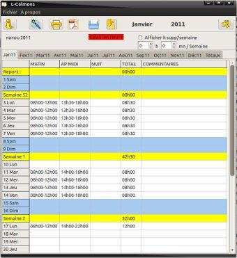 Capture d'écran L-Calmens Linux