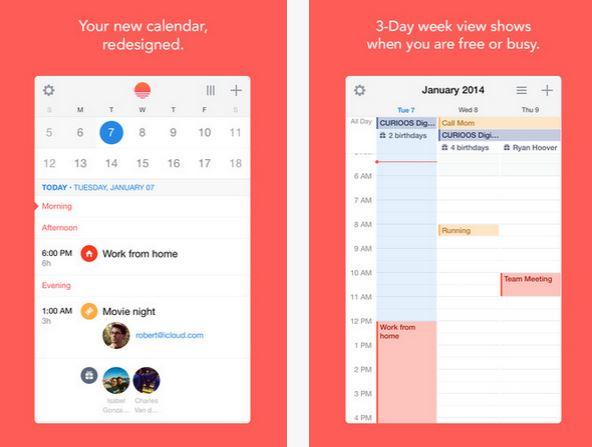 Capture d'écran Sunrise Calendar Android