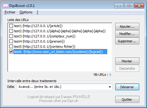 Capture d'écran DipiBoost v2.0.2