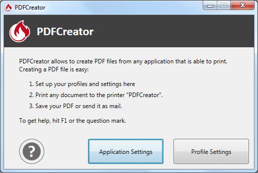 Capture d'écran PDFCreator