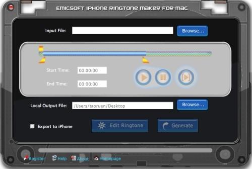 Capture d'écran Emicsoft iPhone Créateur de Sonnerie pour Mac