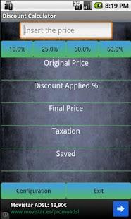 Capture d'écran Discount Calculator