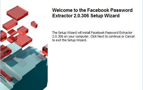 Capture d'écran Facebook Password Extractor
