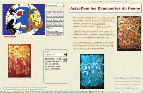 Capture d'écran AstroDom.L