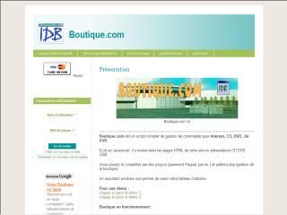 Capture d'écran Boutique.com