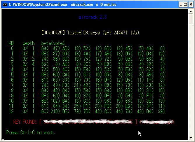Capture d'écran Aircrack-ng