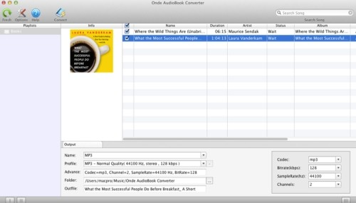Capture d'écran Onde AudioBook Converter for Mac