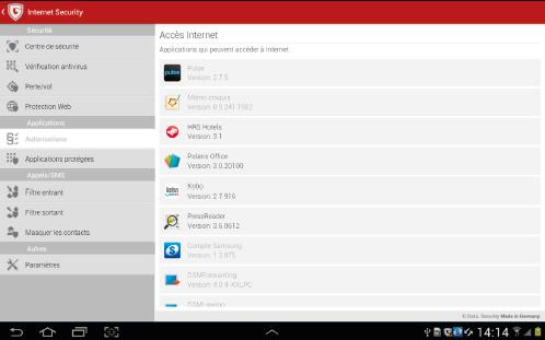 Capture d'écran GData Internet Security pour Android