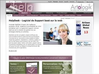 Capture d'écran Artologik HelpDesk – Nouvelle version 4.0 !