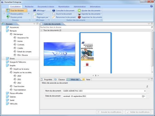 Capture d'écran HomeGed Entreprise