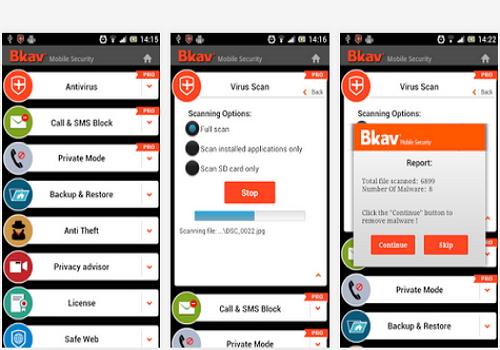 Capture d'écran Bkav Security Android