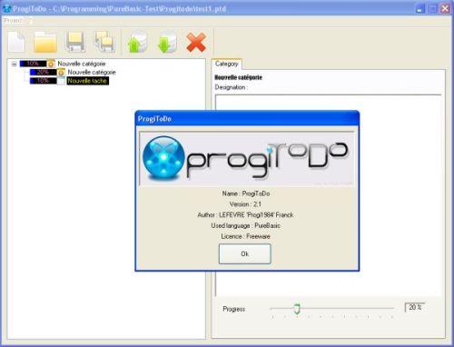 Capture d'écran ProgiToDo