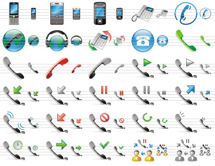 Capture d'écran Phone Toolbar Icons