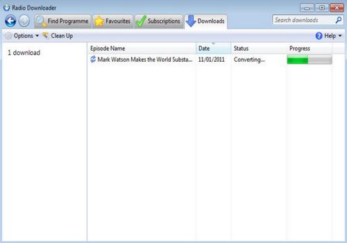 Capture d'écran Radio Downloader