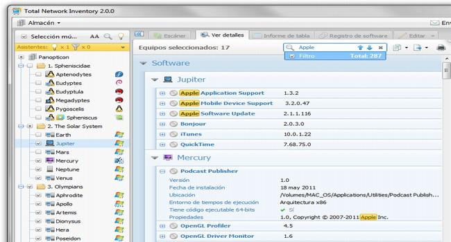 Capture d'écran Total Network Inventory 4.0.0