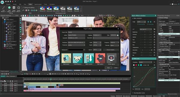 Capture d'écran VSDC Free Video Editor