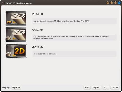 Capture d'écran ImTOO 3D Video Convertisseur
