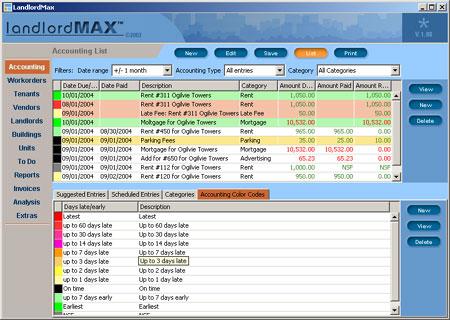 Capture d'écran LandlordMax Property Management Software