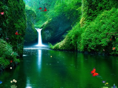 Capture d'écran Green Waterfalls