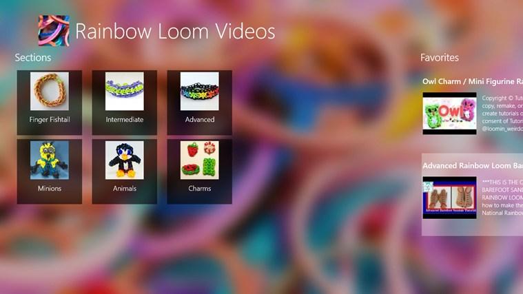 Capture d'écran Rainbow Loom Videos Windows Phone