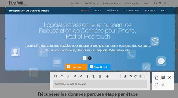 Capture d'écran FonePaw Enregistreur d'écran pour Mac