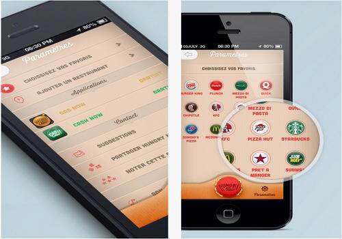 Capture d'écran Hungry Now iOS
