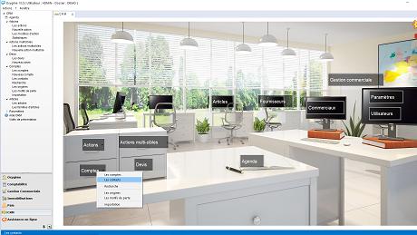 Capture d'écran Memsoft CRM Gestion Relation Clients Oxygène 10