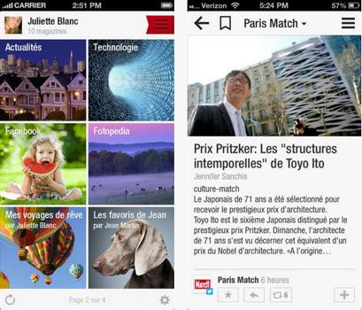 Capture d'écran Flipboard iOS
