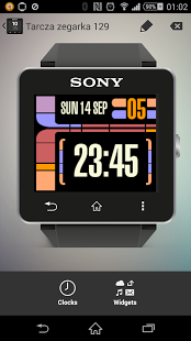 Capture d'écran LCARS inspired clock Sony SW2